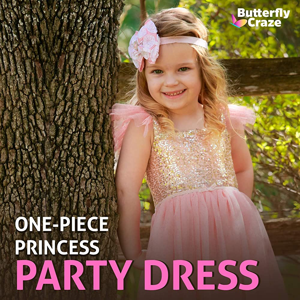 Butterfly style baby birthday dress flower girl dress with butterflies princess butterfly first birthday dress Birthday baby girl dress