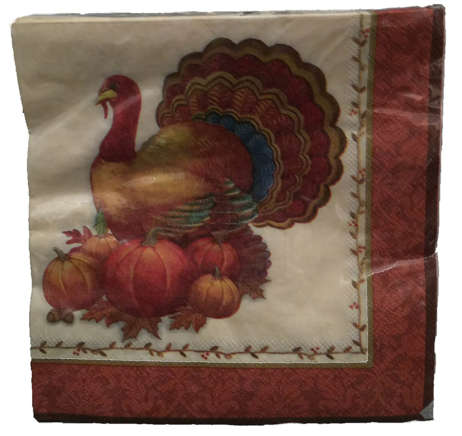 Amazon.com Thanksgiving Disposable Dinnerware Set for Your Holiday Party - Turkey Fall Harvest - Dinner Plates Dessert Plates Cups \u0026 Napkins (Serves 12) ... & Amazon.com: Thanksgiving Disposable Dinnerware Set for Your Holiday ...