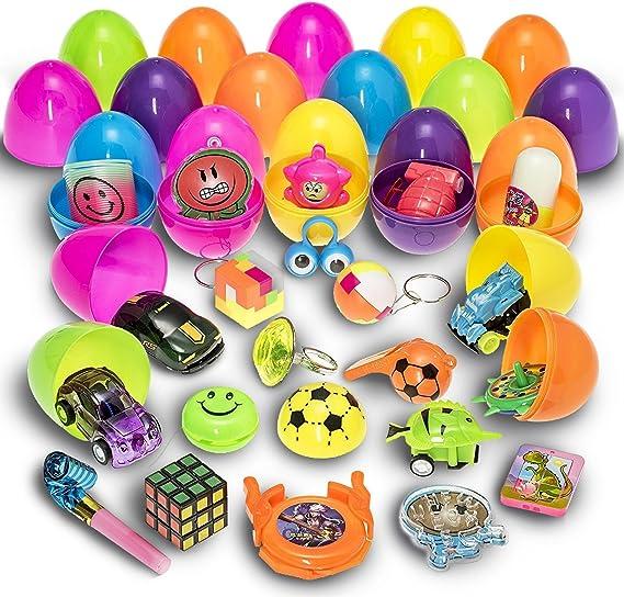 PREXTEX 30 Huevos de Pascua Juguete Rellenos de Mini Juguetes y ...