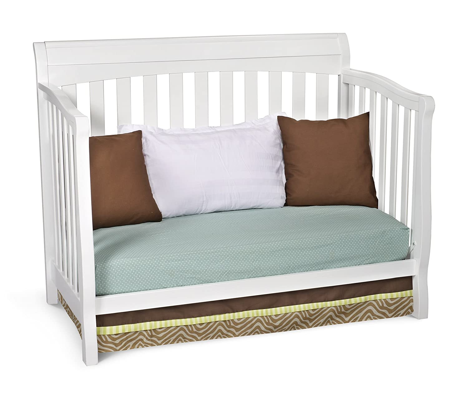 Delta Children Eclipse 4-in-1 Convertible Baby Crib, White
