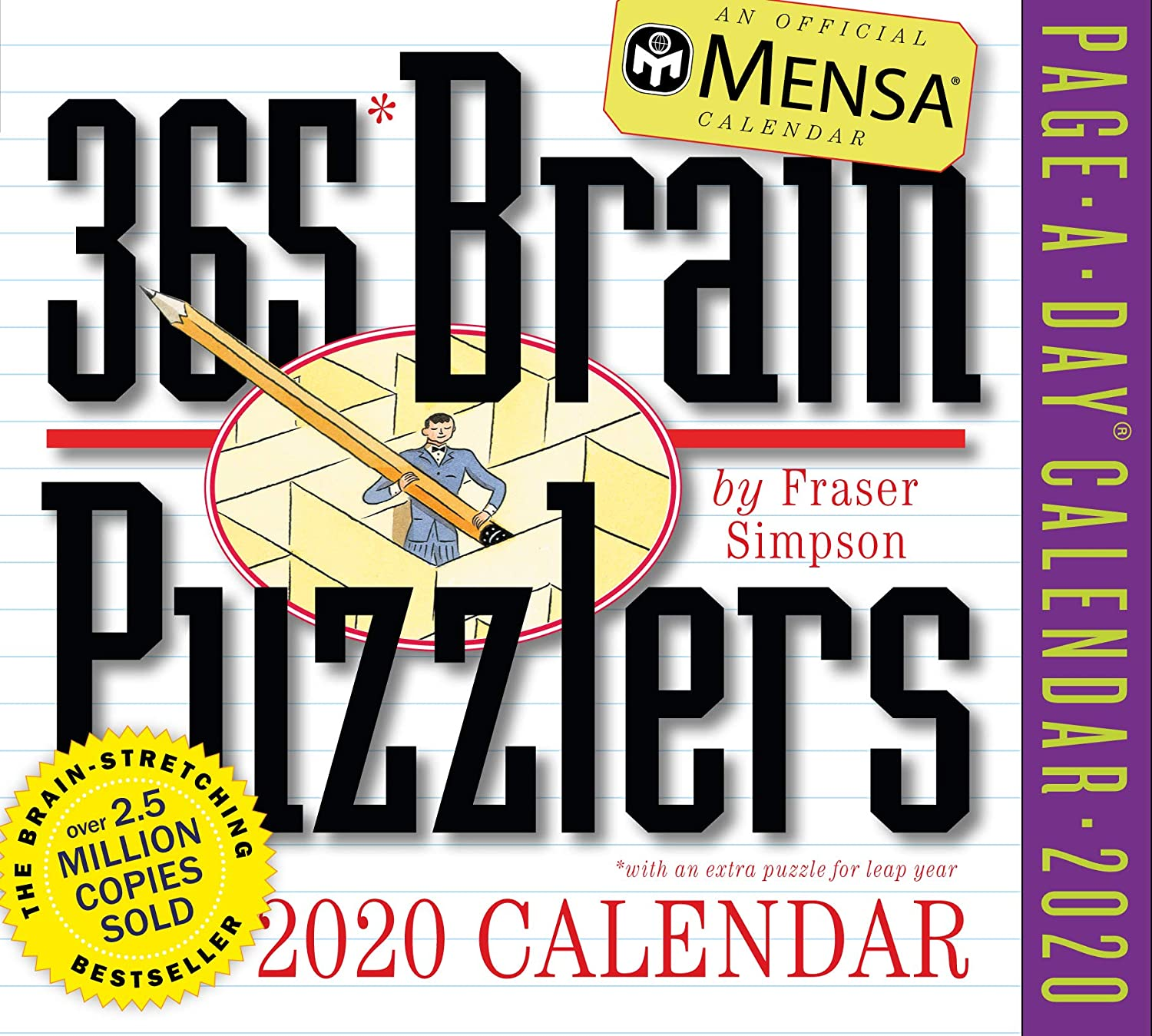 Mensa 365 Brain Puzzlers Page-A-Day Calendar 2020 [5.5