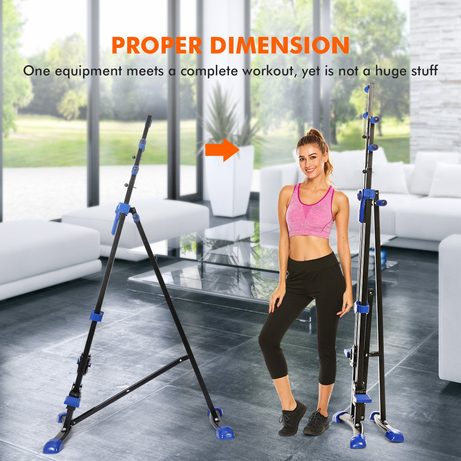 Dozenla Vertical Climber Stepper 2 In 1 Climbing Machine Exercise Fitness Foldable Stair Cardio Equipment [US Stock] by Dozenla (Image #4)