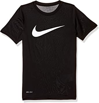 Nike Girls 5  Days a Week Just Do It Graphic Cotton Shirt Black New
