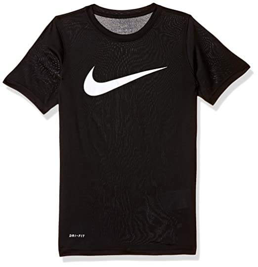 45582cbe Amazon.com: NIKE Boys' Dry Short Sleeve Swoosh Solid Tee: Clothing