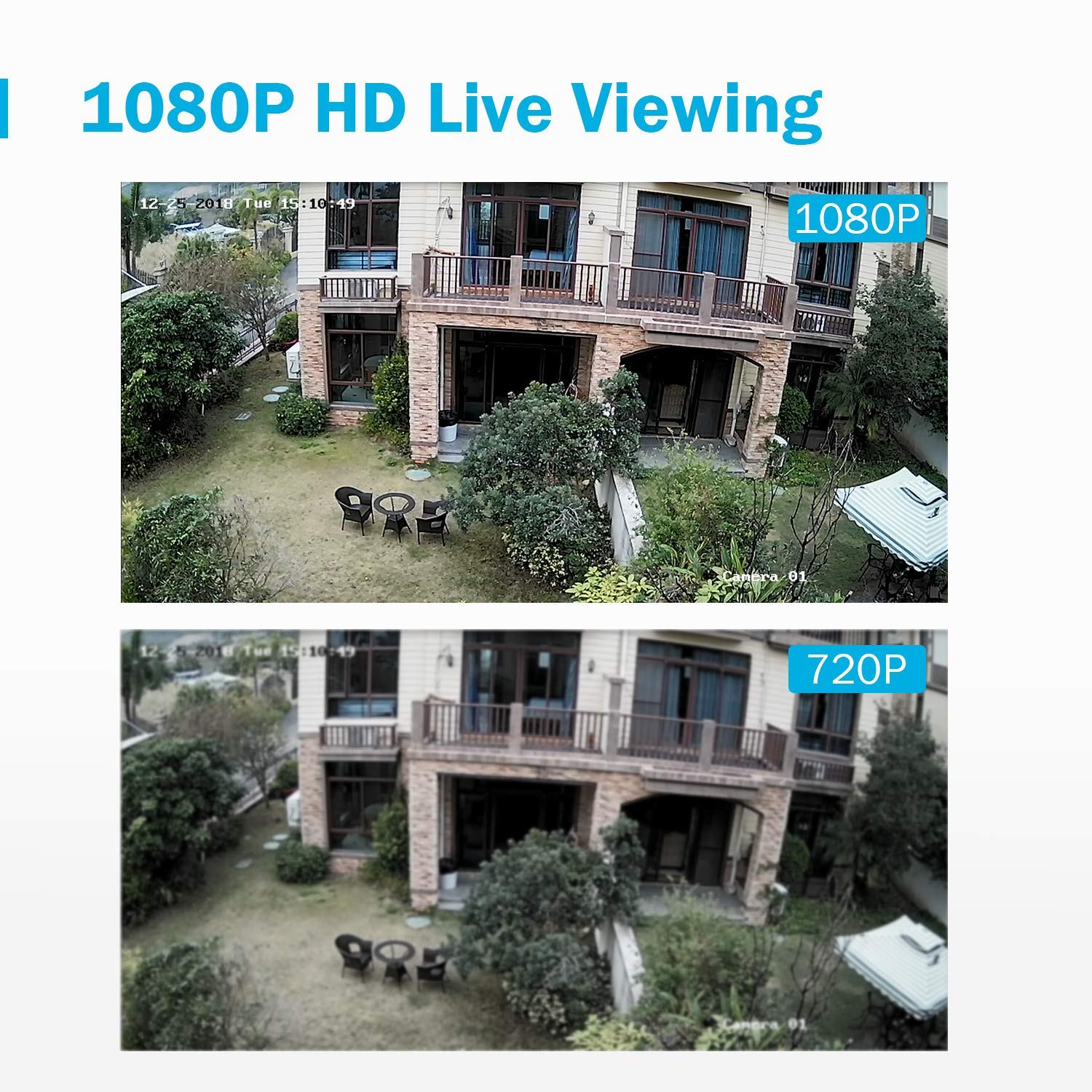 1080P Weatherproof CCTV Bullet Cameras Email Alert with Snapshots 2 ANNKE Security Camera Systems 4CH 1080P Lite H.264+ DVR with 1TB Hard Drive Pre-Installed and