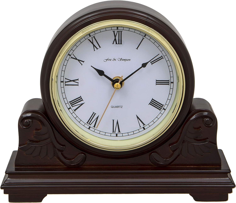 Fox and Simpson Buckingham Mahogany Mantel Clock