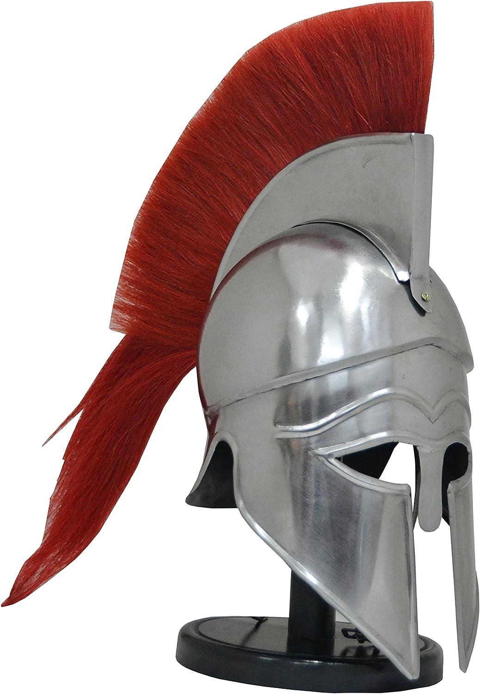 Shiv Shakti empresas Medieval griega Corinthian casco de armadura con rojo penacho Knight Spartan casco réplica