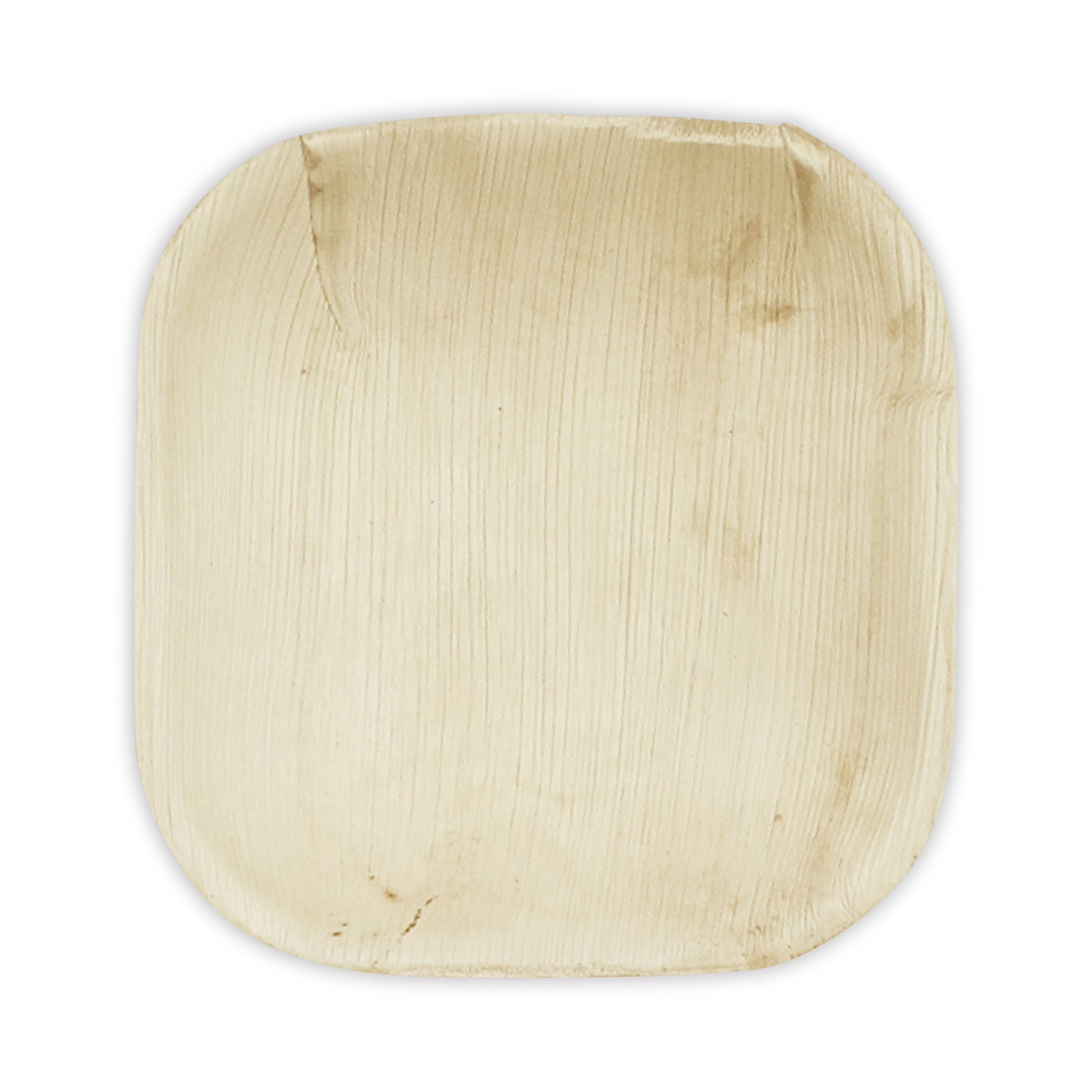 Verterra Compostable Dinnerware- 4'' Square Tasting Plate (600-pack), 600, Natural