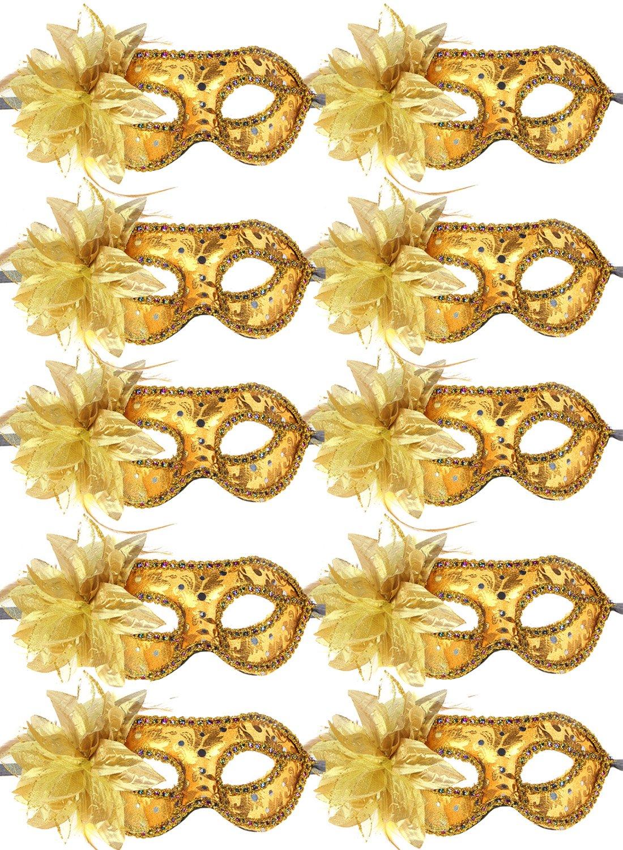 10pcs Set Different Colors Half Masquerades Venetian Masks Costumes Party Accessory IE22037