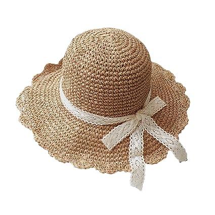 071b2f73 Summer Beach Sun Hat for Women Kids Girls Straw Hat Sun Protection Parent-Child  Sun