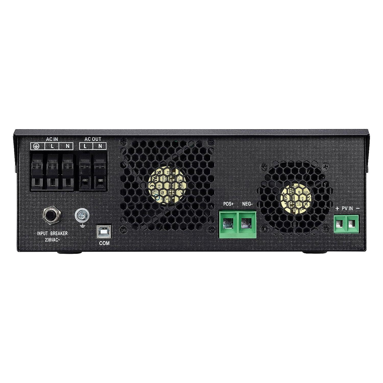 Iconica 3000W 24V inversor de onda sinusoidal pura híbrida con controlador de carga solar 50A y cargador de batería de 25 A de red: Amazon.es: Electrónica