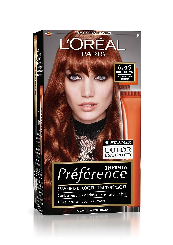 prfrence loral paris coloration permanente 645 auburn cuivr intense - Coloration Temporaire L Oreal