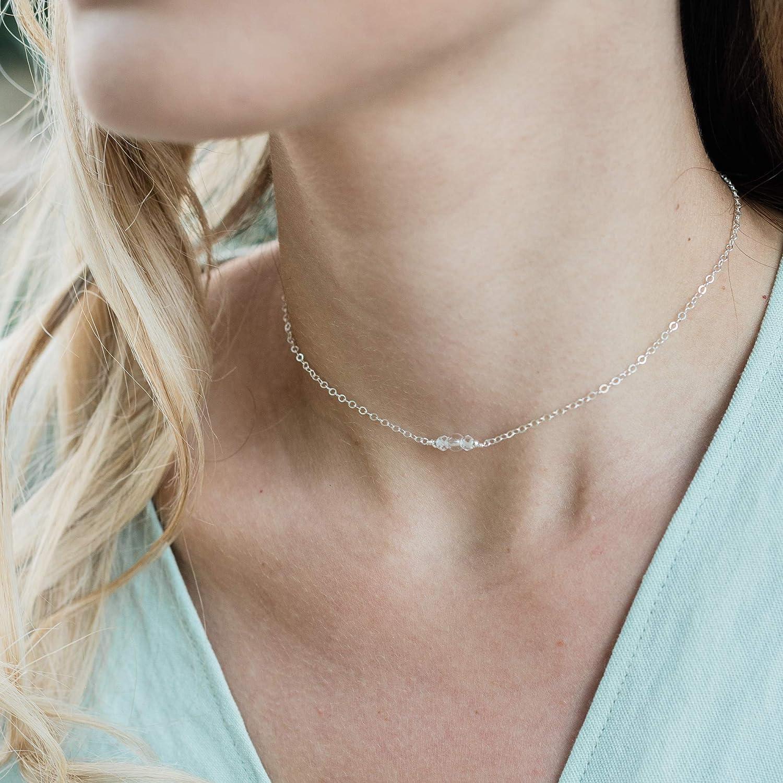 Adjustable Stone Necklace Handmade Gift Adjustable Quartz Choker Womens Jewelry Adjustable Cord Choker Necklace Quartz Point Choker