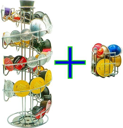 Soporte para cápsulas Dispensador de cápsulas para 57 cápsulas de ...