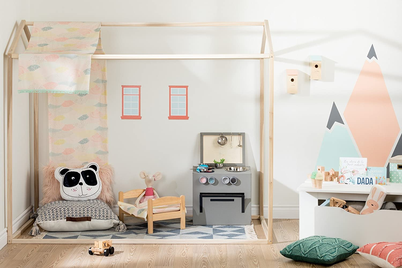 South Shore Furniture Sweedi Natural Poplar House Bed