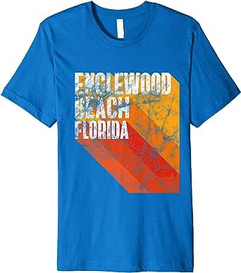 Amazon.com: Englewood Beach Shirt Retro Style Florida ...
