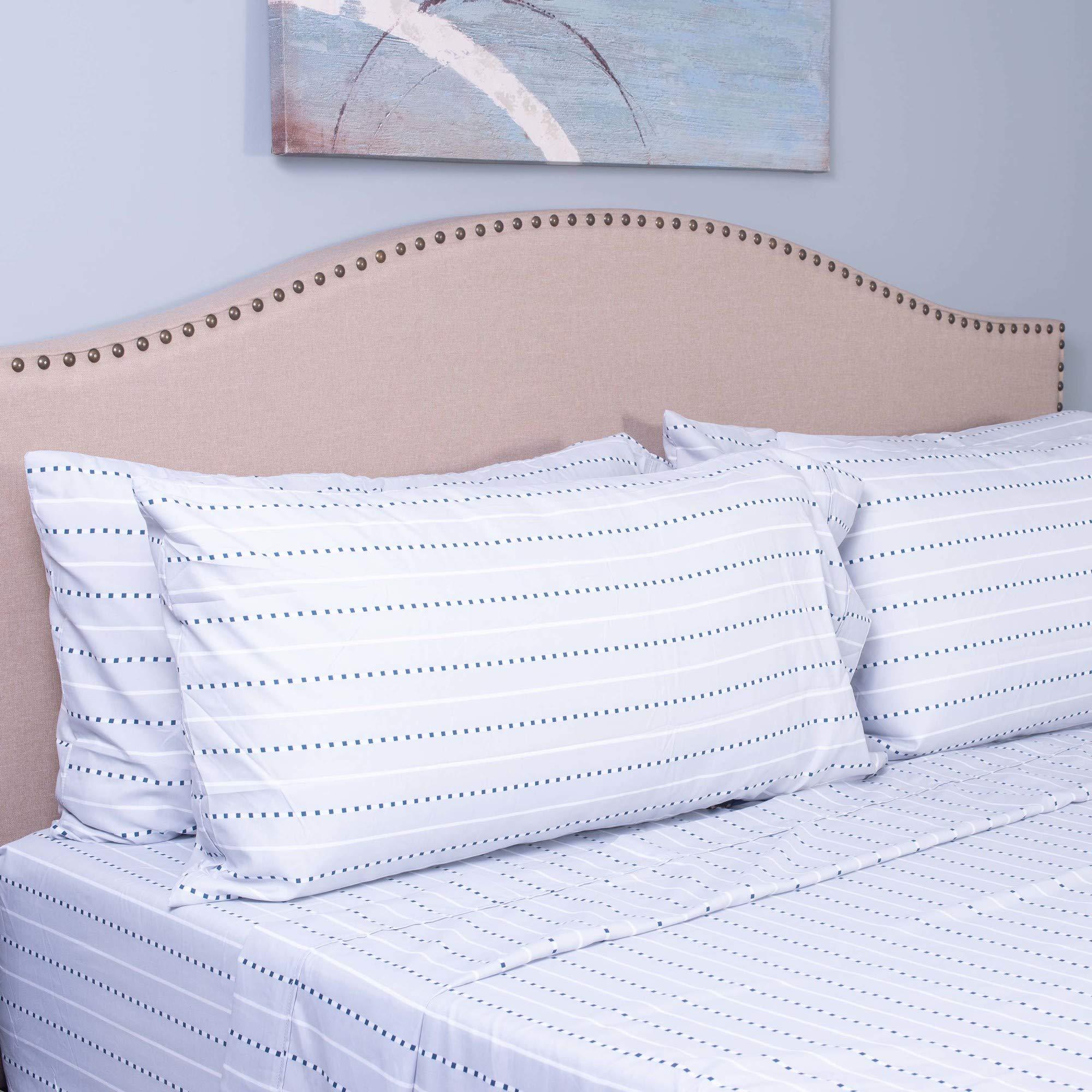 IZOD Sperry Stripe Sheet Set, Queen, Light Grey