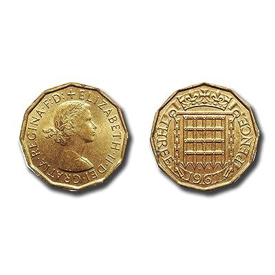 Monedas para coleccionistas - 2 x 1967 Tres piezas centavo - sin circular condición de colección / de tres centavos bits: Juguetes y juegos