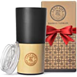 LeafLife Bamboo Travel Mug with Lid   18oz Triple Insulated Tumbler For Men & Women   Premium Double Wall and Vacuum…