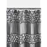 Popular Bath Sinatra, Shower Curtain, Silver