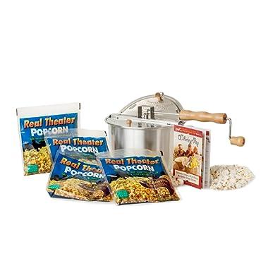 Wabash Valley Farms 25102 25102-amazon Theater Popcorn Gift Set, Regular, Silver