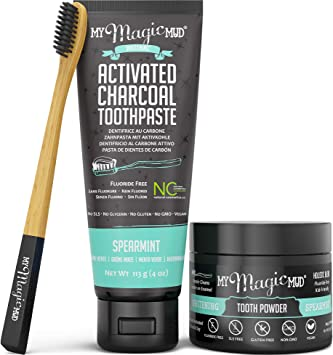 Amazon.com: My Magic Mud – Kit de blanqueamiento de dientes ...