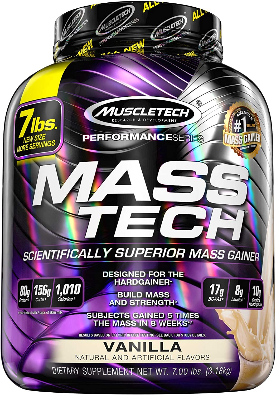 MuscleTech Mass Tech, Scientifically Superior Weight Gain Formula, Vanilla, 7 lbs (3.18kg): Health & Personal Care