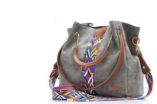 MAZTIN bolsos mujer bandolera hombro y mano marca siéntete única y elegante muy moderno para vestir ir de viaje fiesta o paseo colores que conjuntan ...