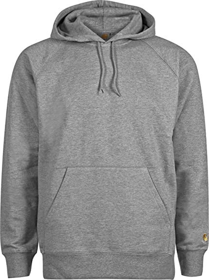 e81c39511a3 Carhartt WIP Hooded Chase Sweat Dark Grey Heather Gold S: Amazon.co.uk:  Shoes & Bags