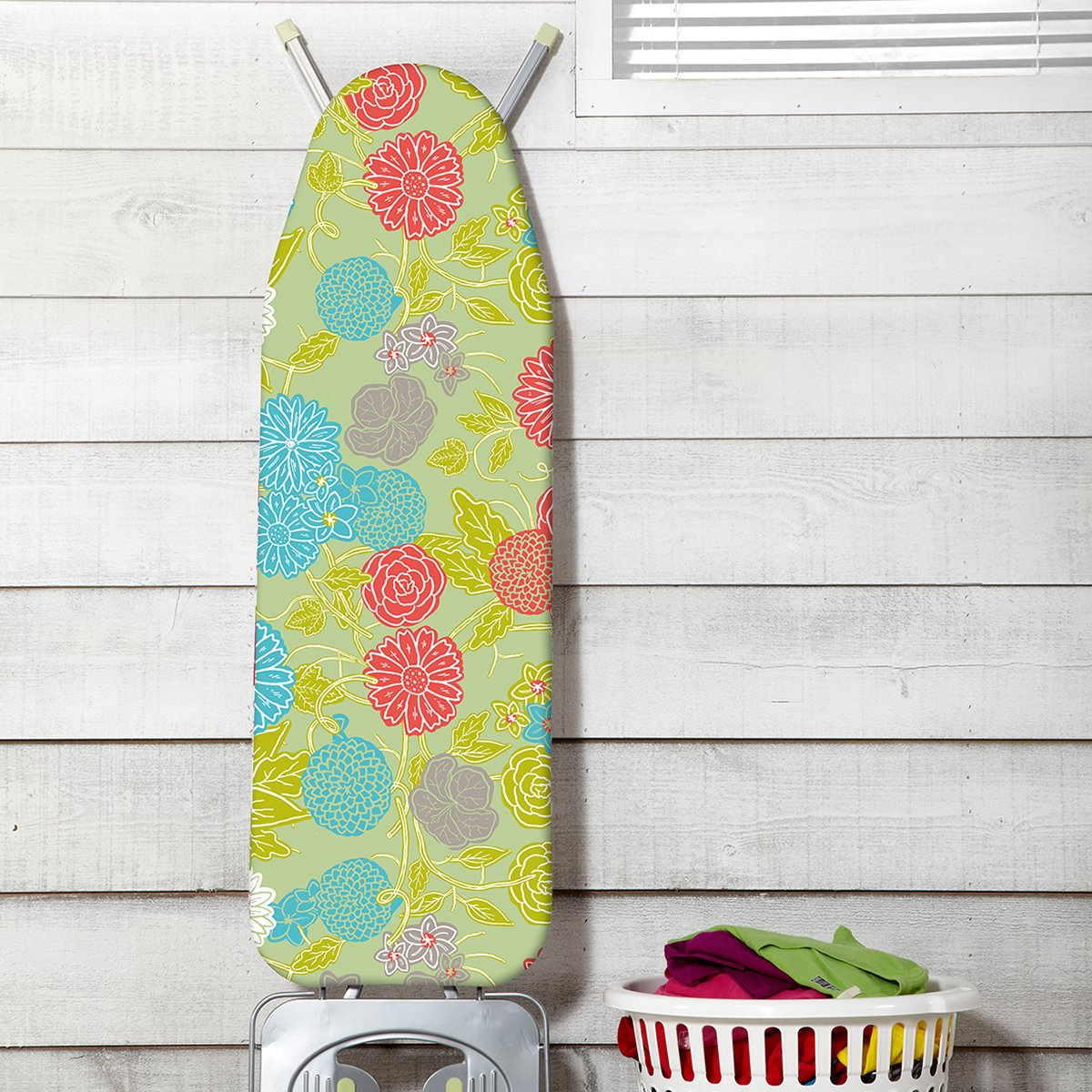 JML FastFit Ironing Board Cover - Ultimate: 100% Cotton Non Slip Multi Colour i04is10d3b00g000