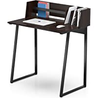 FITUEYES Computer Desk with Sturdy Back Board, Writing/Study Working Table for Home Office, Black Wood Grain CD108201WG