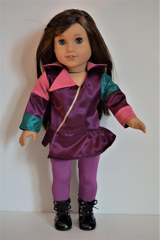 Handmade Doll Clothes Descendants Mal Costume fits 18 American Girl Dolls