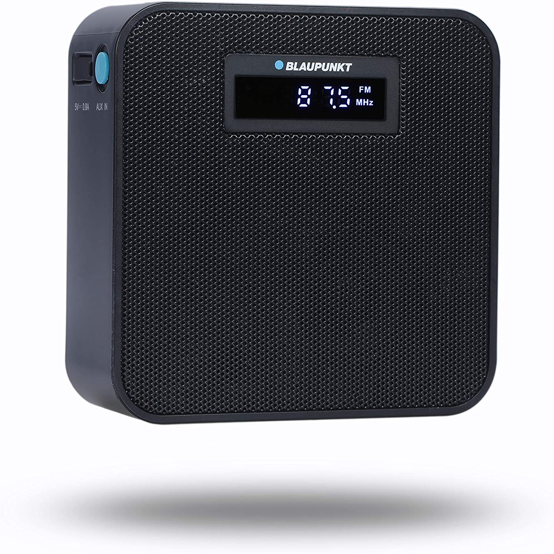 BLAUPUNKT PRB 100 BK Blaupunkt - Radio con Enchufe PRB 100, FM/FM PLL (Enchufe PLL, Bluetooth, Cargador USB, Entrada Auxiliar, Manos Libres), Color Negro