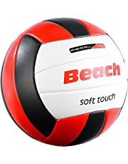 PEARL sports Volleyball: Beachvolleyball, griffige Soft-Touch-Oberfläche, Kunstleder, 20,5 cm Ø (Beach Volleybälle)