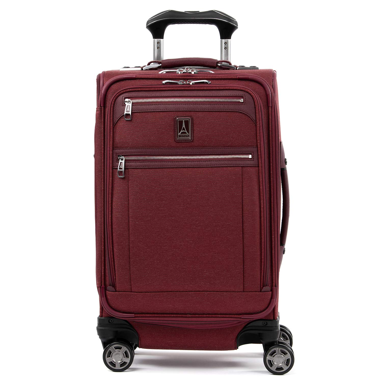 Travelpro Luggage Platinum Elite 21'' Carry-on Expandable Spinner w/USB Port, Bordeaux