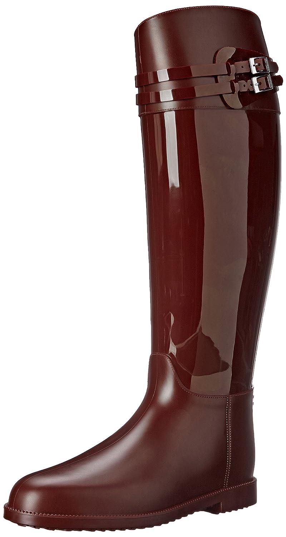 SLOOSH Italy Women's Tall Glossy Rain Boot B00VWLJBBK 41 M EU / 11 B(M) US|Bordeaux