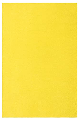 Our Space Collection Solid Color Area Rugs Yellow – 6 x9 with Non Slip Backing