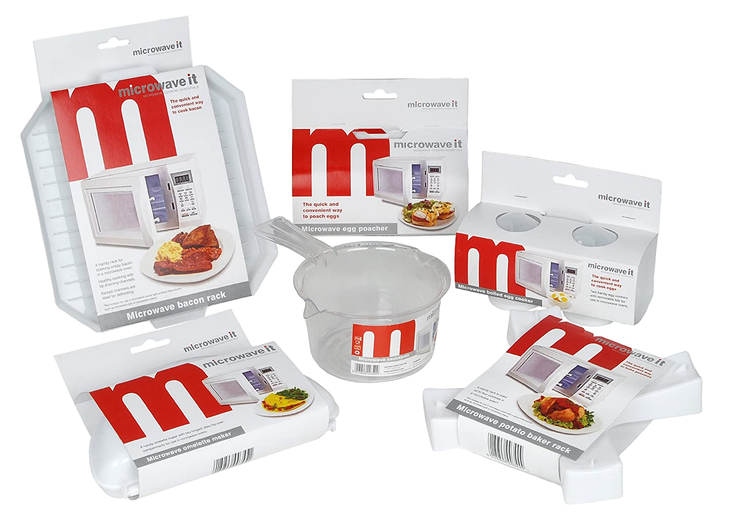 Microwave it 6 Piece Microwave Cookware Set Pendeford PP3550