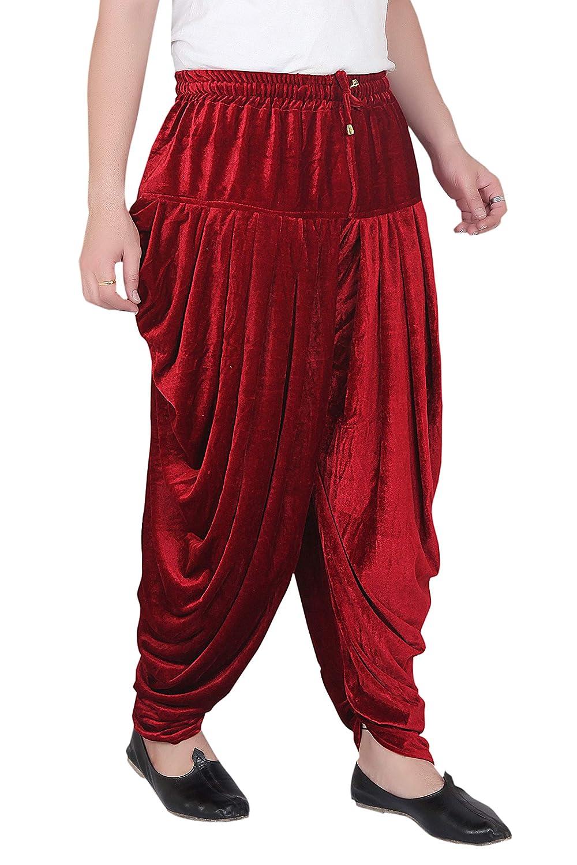 Patiala-Pants-Salwar-fuer-Maenner-Samt-elastischer-Bund-handgefertigt-laessig-Wear Indexbild 10