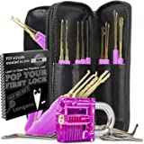 Lock Pick Set, Eventronic 25-Piece Lock Picking Tools with 1Clear Practice and Training Locks for Lockpicking, Extractor Tool for Beginner and Pro Locksmiths