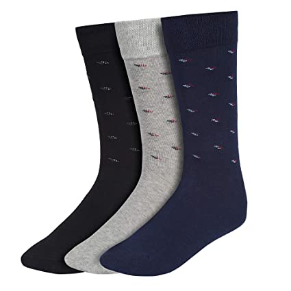 Creature Men's Cotton Calf Length Formal Socks Combo of 3(SCS-901)