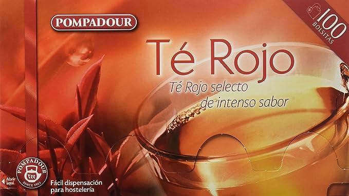 Pompadour Té Rojo - 100 bolsitas - [pack de 2]: Amazon.es ...