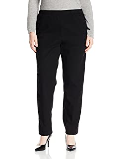 Bend Over Women\'s Plus Size Elastic Waist Pull-On Pants at Amazon ...