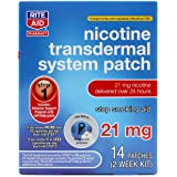 Rite Aid Nicotine Patches - Step 1 | 21 mg - 14 Count | Quit Smoking Patches | Smoking Aid to Help Quit Smoking…