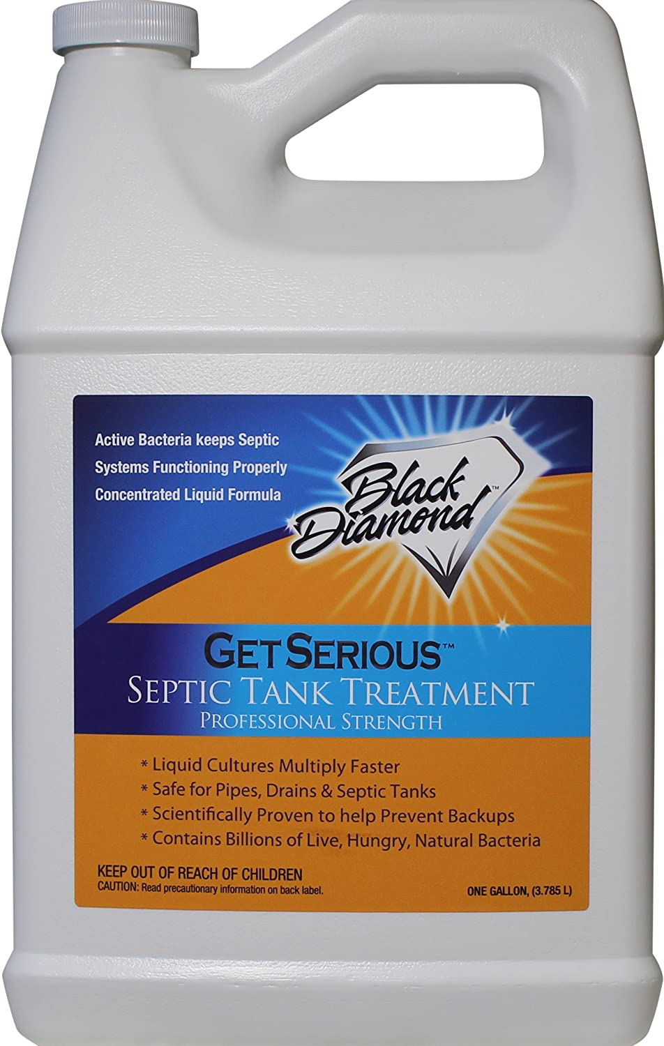 GET SERIOUS Septic Tank Treatment Liquid Natural Enzymes For Residential, Commercial, Industrial, RV's Systems (1-Gallon)