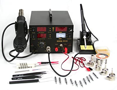 Kendal 853D 4 IN 1 SMD HOT AIR REWORK & SOLDERING IRON STATION