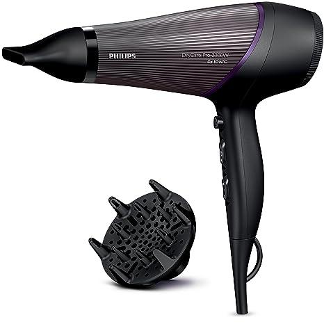 Philips BHD177/00 - Secador de pelo, color negro y morado