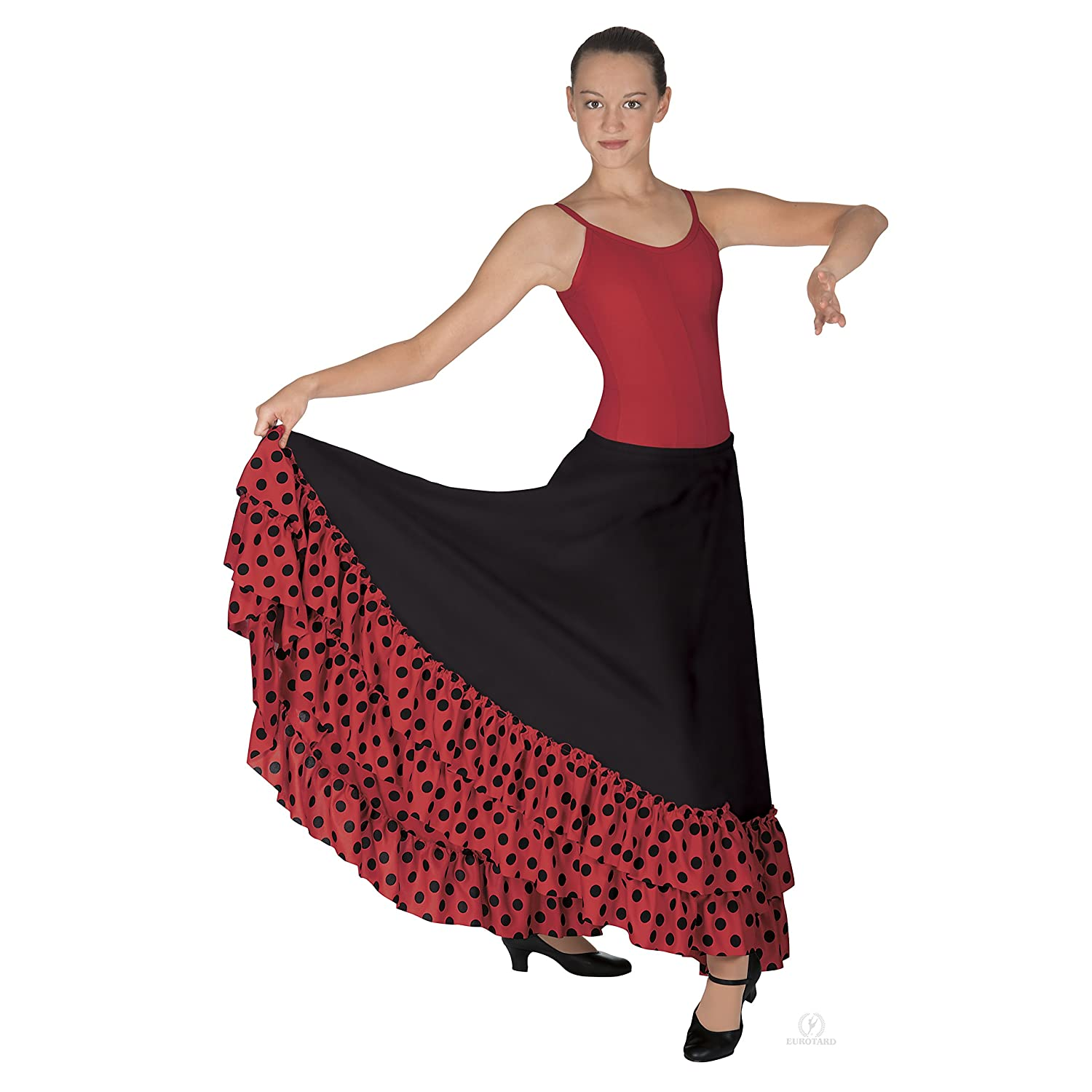 Eurotard Womens Polka Dot Flamenco Skirt (08804)
