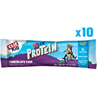 CLIF KID ZBAR - Protein Snack Bar - Chocolate Chip (1.27 Ounce Bar, 10 Count) (packaging may vary)