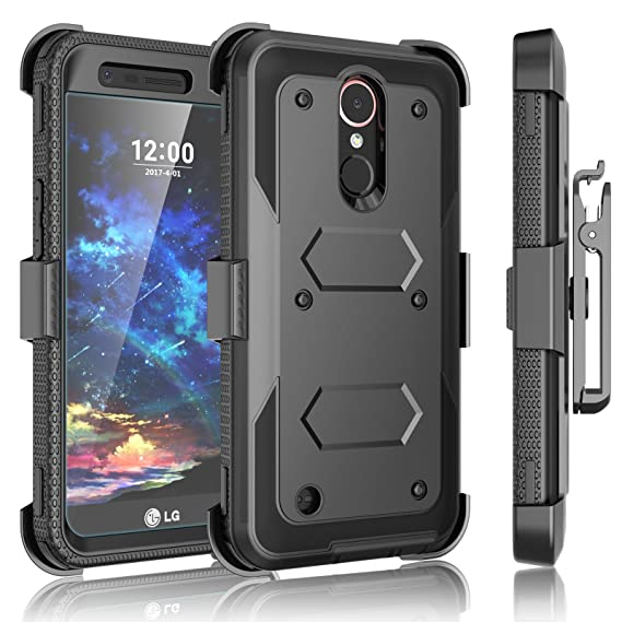 new concept b5a84 3133a LG K20 Plus Case, LG K20 V Holster, LG Harmony/LG V5 / LG K10 2017 Case  Clip, Tekcoo [TShell] [Built-in Screen Protector] Locking Secure Swivel  Belt ...